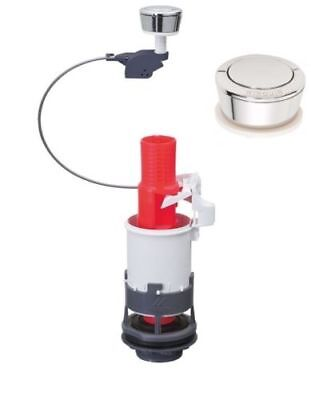 Wirquin Single Pushbutton With Cable Toilet WC Flush Mechanism, Universal MD+00