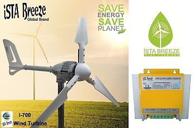 SET 700W 12V WINDGENERATOR, IstaBreeze® Hybrid LR WINDKRAFTANLAGE,WIND TURBINE