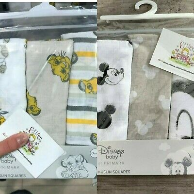Disney Baby Primark Muslin Squares Bib Boys Girls Unisex Cloth Gift Character