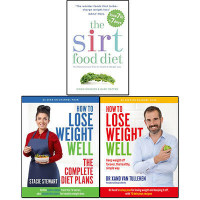 Sirtfood Diet, How to Lose Weight Well Complete Diet Plans 3 Books Set Pack NEW