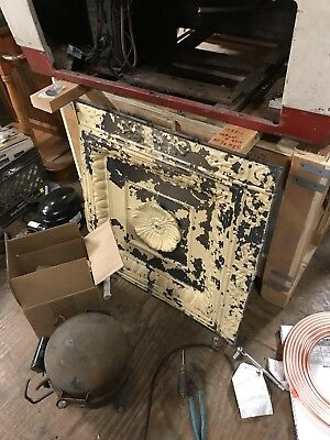 Antique Rare 2 Piece Tin Ceiling Panel Flower Motif Architectural Wall Art