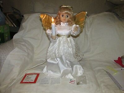 Vintage Telco Motionette Animated Lighted Golden Christmas Angel With Box! Nice!