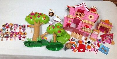 Lalaloopsy Lot 13 Dolls Tree Houses Tents Various Accessories Clean Minimal Play