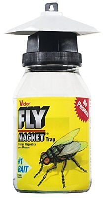 Victor M380 Fly Magnet 1-Quart Reusable Trap With Bait(1Pack)