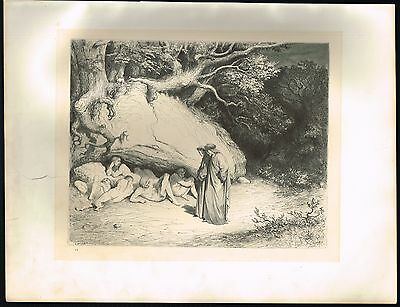 1860's Old ANTIQUE Vintage Innocent Souls Limbo Gustave Dore Art Engraving PRINT