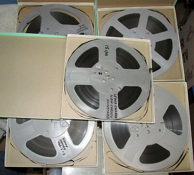 "5 Used Reel To Reel Tape Lot 10.5"" Plastic SCOTCH New Christy/Beethoven J0750"