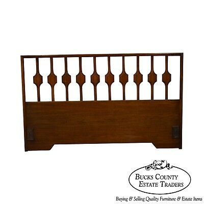 Mid Century Danish Modern Style Walnut Queen Headboard