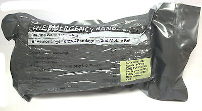 "6"" Israeli Hemorrhage Control Bandage w/ 2nd Mobile Pad Medical Prepper 06/17"