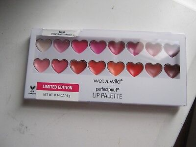 WET 'N' WILD From Heart To Finish 34890 PerfectPout Lip Palette SEALED Limited