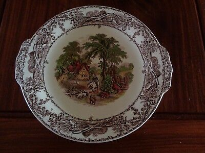 A J Wilkinson Royal Staffordshire Pottery RURAL SCENES Bread And Butter Plate