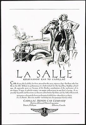 1928 Old Vintage Cadillac La Salle Motor Car Automobile Co Art Deco Print Ad
