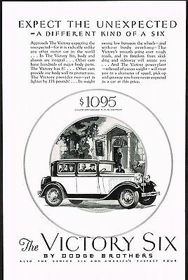 1928 Old Vintage Dodge Coupe Brougham Motor Car Automobile Co Art Deco Print Ad