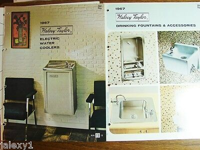 1967 HALSEY TAYLOR Drinking Fountains Electric Water Coolers Vintage Catalog LOT