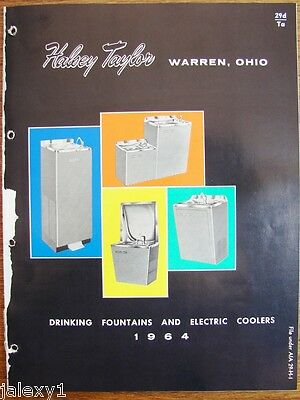 1964 HALSEY Taylor Drinking Fountains & Electric WATER COOLERS Vintage Catalog