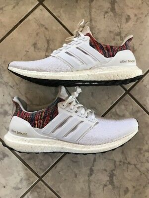 dd51768e2312 Mi Adidas Ultra Boost Rainbow Multi White Size 12 (BY1756) 100% AUTHENTIC