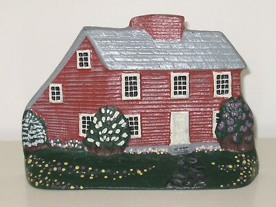 Heritage Metalcraft Cast Iron Door Stop Red Country House  Made in Maine