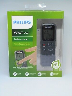Philips VoiceTracer Audio Digital Recorder Notes and Ideas 4GB DVT1110