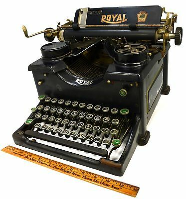 Antique ROYAL NO. 10 TYPEWRITER c.1929 Mechanical Type GLASS SIDES All Original!