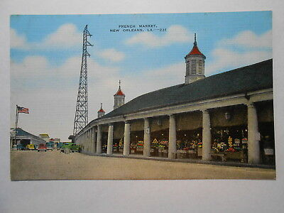 Old Postcard. NEW ORLEANS, LOUISIANA, FRENCH MARKET, 231