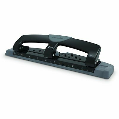 "3 Hole Punch Paper Puncher 9/32"" Holes 12 Sheets Folder Files 3 Ring Binder"