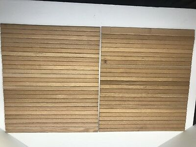 Roll Top Desk or Tambour Window Replacement -Unfinished Oak Cloth Backed Slats