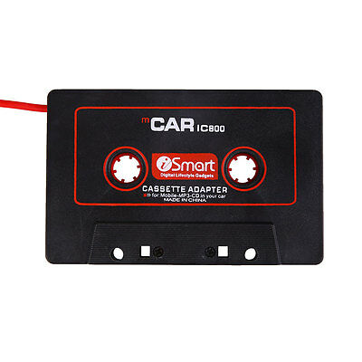 Car Audio Cassette Tape Stereo Adapter For iPod Phone CD MD AUX 3.5mm Jack