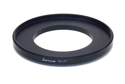 Metal Step up ring 52mm to 77mm 52-77 Sonia New Adapter