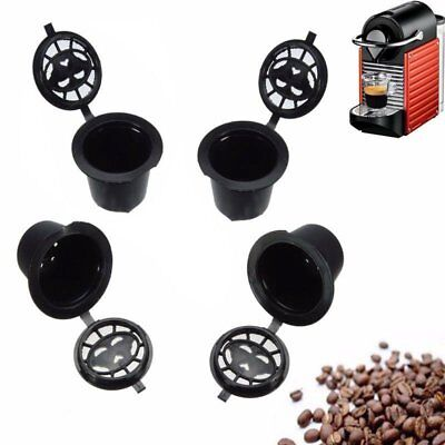 4pcs Reusable Compatible Coffee Espresso Capsules Machines Filter Cups Tool