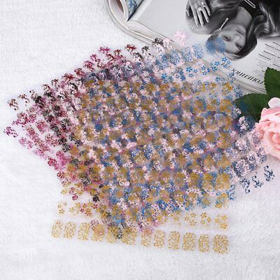 Lady 108pcs Floral Flower 3D Nail Art Stickers Stamping Decals DIY Decor
