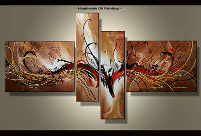 Framed Large Wall Art Handmade Canvas Modern Abstract Oil Painting Decor Abs030