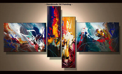 Framed Large Wall Art Handmade Canvas Modern Abstract Oil Painting Decor Abs077