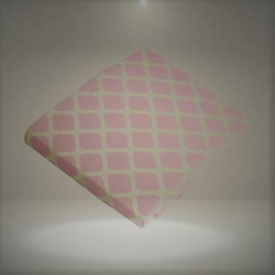 Kushies Baby Fitted Bassinet Sheet, Pink Lattice