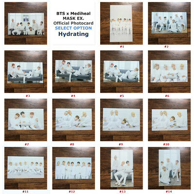 BTS x MEDIHEAL Mask Official Photocard Bangtan Boys Special Gift Card #HYDRATING