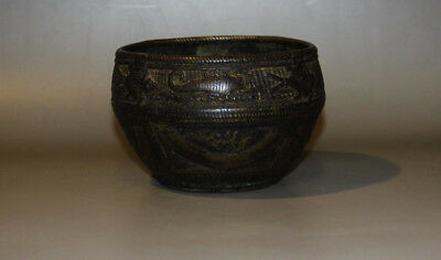 @Nice Rare Mystery 17th Century Old Antique Tibet Buddhism Bronze Offering Bowl@