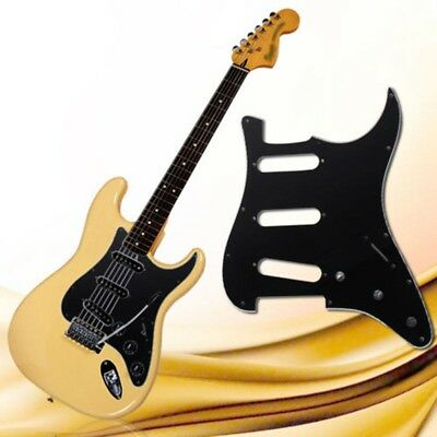 Stratocaster Guitar 3-Ply PVC Pickguard Scratch Plate For ST Strat SSS Black CG