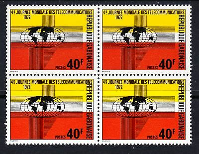 Gabon 1972 World Telecommunications Day - MNH block of 4  - (241)