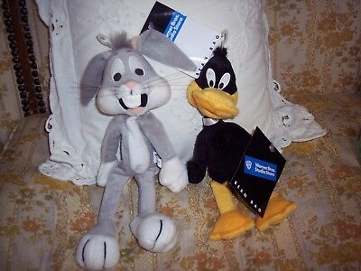 Wt Vtg Warner Brothers Bugs Bunny And Daffy Duck Plush Bean Bags