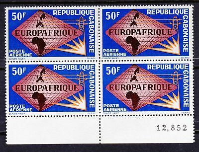 Gabon 1965 Air. Europafrique - MNH Block - Cat £7 - (259)