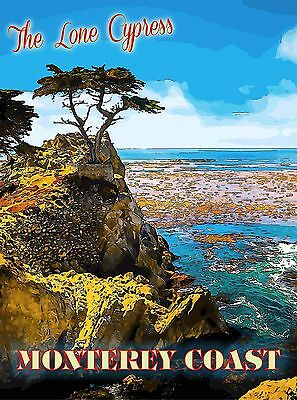 The Lone Cypress Big Sur Monterey California United States Travel Poster