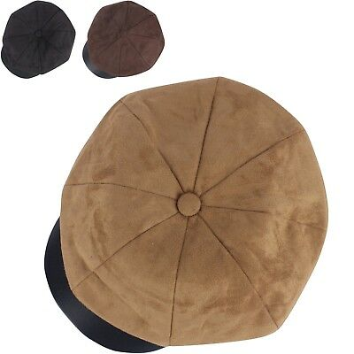 e935b8670d0 N356 Suede Leather 8 Panel Newsboy Ivy Cap Beret Driving Flat Golf Gatsby  Hat