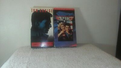 Tom Cruise movies.... Mission Impossible and Top Gun in VHS format