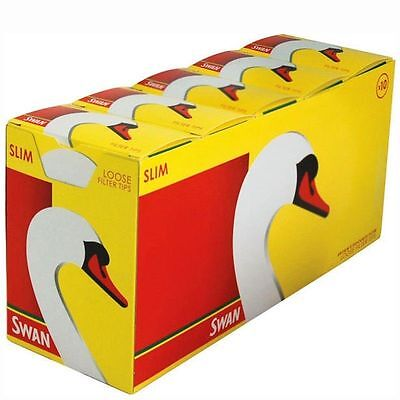 Swan Extra Slim Smoking Cigarette Filter Tips Full Box (10 Packs) Free Delivery
