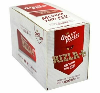 Leo Rizla Red 100 Booklets Box Regular /Standard Cigarette Rolling Papers