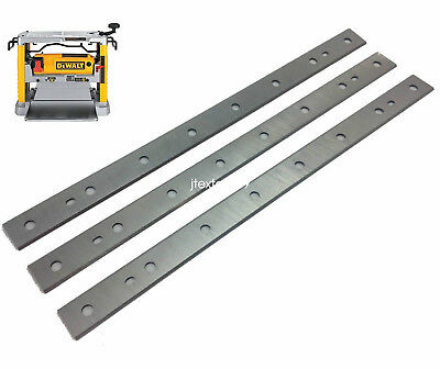 "12-1/2"" DEWALT DW734 HSS Planer Replaceable Blades Knives for DW7342  (3 Pack)"
