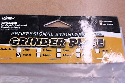 Weston Professional Stainess Steel Grinder Plate 29-3210 #32 10mm