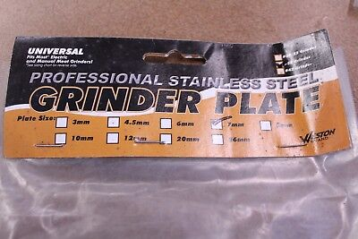 Weston Professional Stainess Steel Grinder Plate 29-3207  #32 7mm