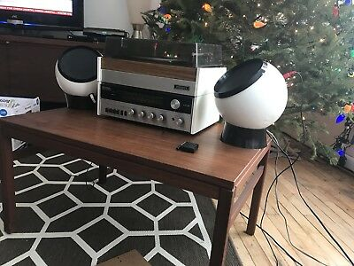 Vintage Sylvania Stereo System With Speaker Orbs