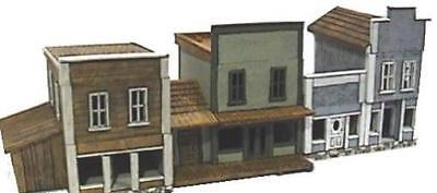 Old Glory Mini Buidling 25mm Dodge City Front Street Pack MINT