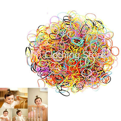 2800 Tiny Small Rubber Bands for Baby Girl Toddler Kids Hair Tie up Ponytail Lot