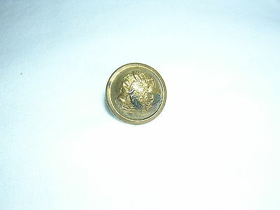 Antique Vintage Original Brass  HORSES & EAGLE ~ HORSTMANN  1-Round Button
